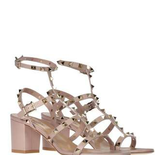 Valentino Rockstud Chunky 60 mm Sandals in Nide Poudre