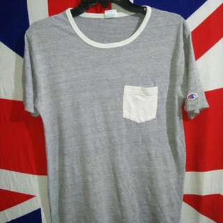 Original Champion Heather Grey Rayon Triblend pocket T-shirt