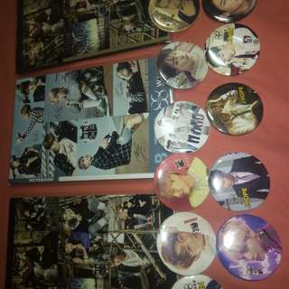 BTS notebook(45php)and pin(20php)