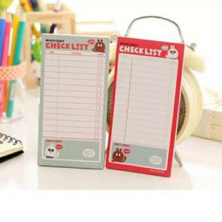 Checklist Post It