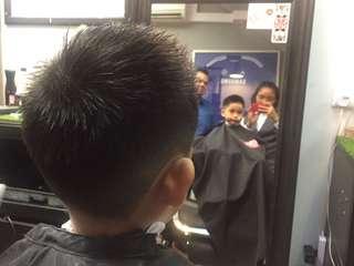 Kids V fade Mohawk Haircut