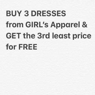 Buy 3 get d 3rd for FREE