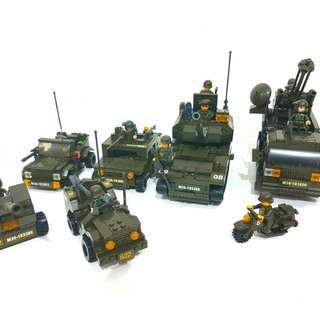 Sluban Army Bricks Collection (Negotiable)