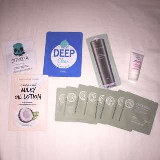 Samples (The Face Shop, Too Cool For School, ZA, Nature Republic, APIEU, Sitkoza)