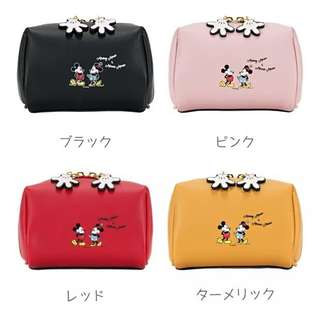Colors By Jennifer Sky Mickey and Minnie Mouse Makeup Pouches