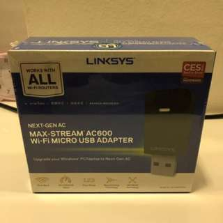Linksys Next-Gen AC MAx-Stream AC600 WIFI Micro USB Adaptor