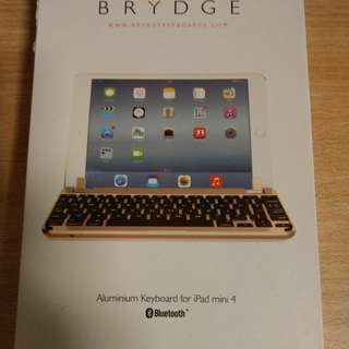 Brydge Ipad Mini 4 bluetooth keyboard(gold)