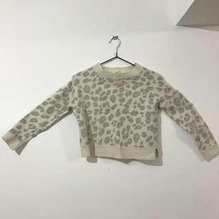 豹紋長袖毛衣