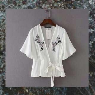 Kimono V-neck top