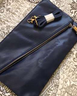 Brand New  Givenchy VIP gift crossbody clutch envelope sling bag in navy mix leather Size 32 x 20 cm