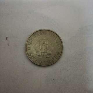 Game token wonder space silver clr