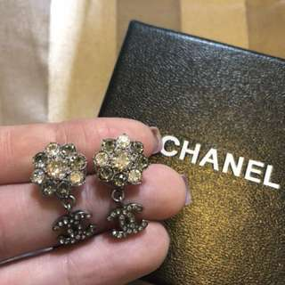Chanel earrings with original receipt