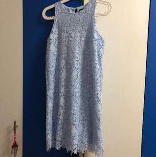 Neonmello light blue crochet dress