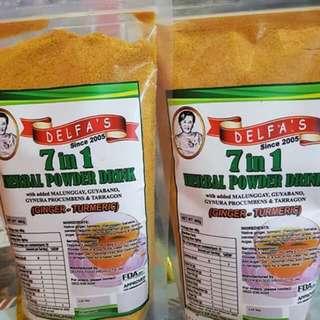 Turmeric powder herbal drink