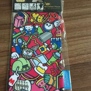 HELLO KITTY X DORAEMON microfiber pouch