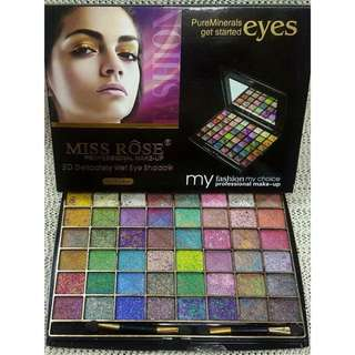 MISS ROSE PURE MINERALS EYESHADOW 48 COLOR