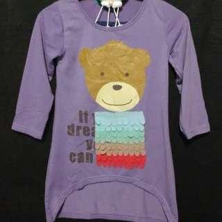 ❤ Kaos Bear Dusty Purple