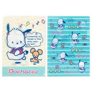 Sanrio 日本正版 PC狗 Pochacco A4 File 文件夾 (RUN)