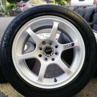 Ssr type c 15 inch tyre 70% sports rim saga flx. Ceduk nasi pakai garpu, brother ini rim memang paduuuu!!!