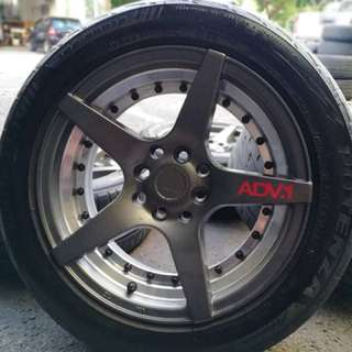 Adv-1 15 inch sports rim proton iriz tyre 70%. Beli kain dekat kokdiang, boss inj rim you pakai confirm you gilang gemilang!!!
