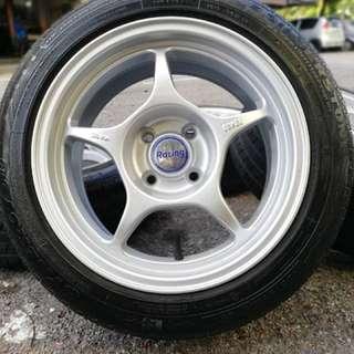 Enkei rpo1 15 inch sports rim vios tyre 70% . Mandi pantai pakai sabun basuh pinggan, ini rim you pakai confirm menawan!!!