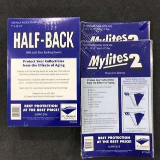 Egerber Mylites 2 & Half Back Boards (Set Of 100 Pcs - Standard Size)