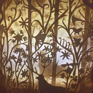 森林之鹿紙雕燈