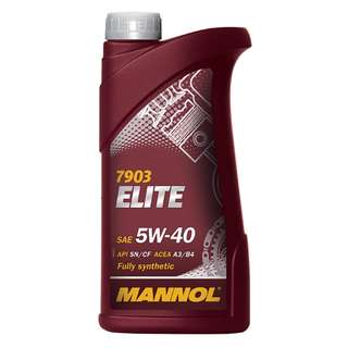 MANNOL ELITE 5W40 FULLY SYNTHETIC ENGINE OIL (1L)