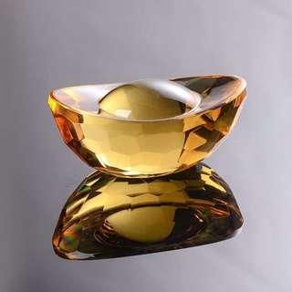 黃水晶金元寶