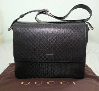 Gucci hillary lux diamante nero messenger 2014 with db, yeartag, card