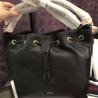 DKNY leather bag with shoulder strap
