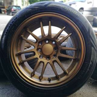 Re30 15 inch sports rim satria neo tyre 70%. Pergi vietnam beli garam, brother ini rim you pakai confirm garang!!!!