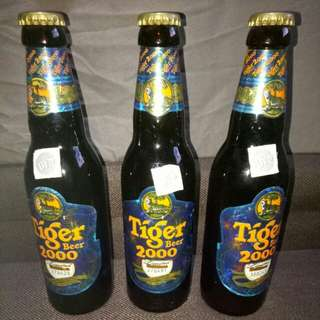 Rare Tiger Beer 2000 Editions with serial number collector's item. X3 Bottles
