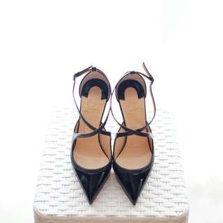 Loubie Crissos Heels Shoes 100mm Black