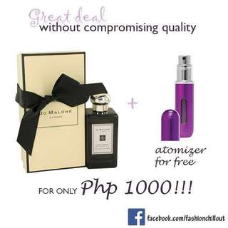 Authentic Perfume with FREE Atomizer