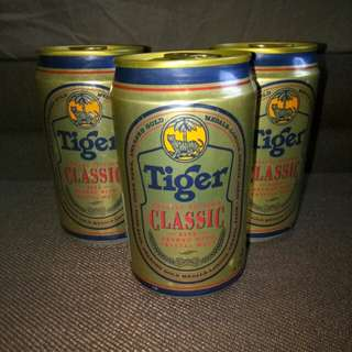 Rare Tiger Beer Classic Cans X3 Special Editions