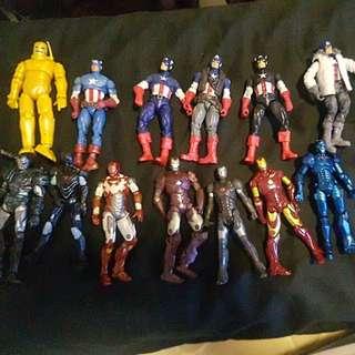 "2018 Free Postage $12 for anyone Marvel 3.75"" captain america vs iron man (ironman civil war marvel universe legends )"