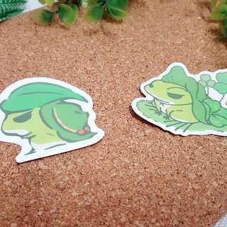 Tabikaeru Journey Frog Luggage Stickers Set A (2 in 1)