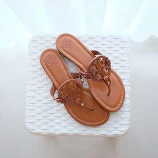 TB Miller Sandals Leather Vintage Sz 7