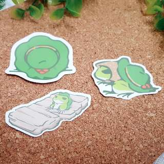 Tabikaeru Journey Frog Luggage Stickers Set C (3 in 1)