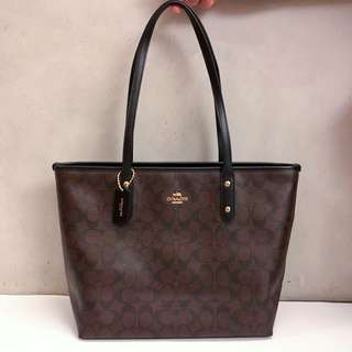 Coach 拉鍊 Tote Bag