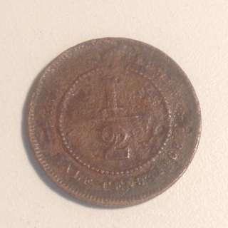 1/2 cent 1908