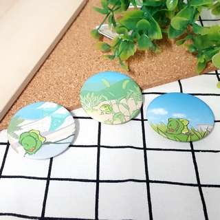 Tabikaeru Journey Frog Button Badge (3 designs)