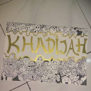 doodle custom #kadowisuda # gift #wisuda