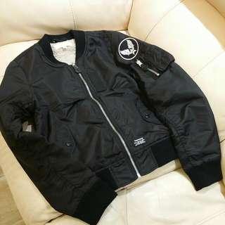 Fingercroxx MA1 army black Jacket
