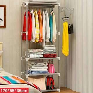 Diy bedroom rack clothes cabinet organizer