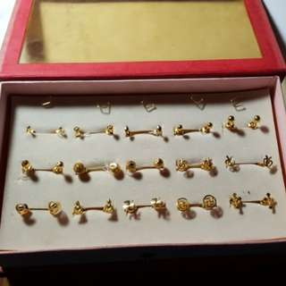 916 Earrings part 1@ current gold price