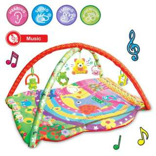 FREE POS Ready Stock Musical Large Baby Play Soft Gym Mat Activity Jungle Toys Kids