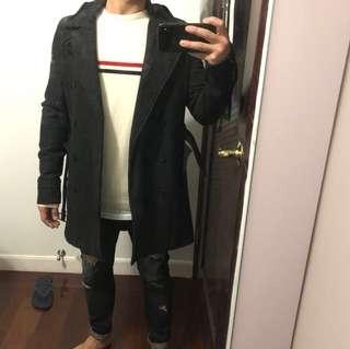 ASOS Wool Mix Trench Coat 孖襟長褸