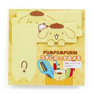 Sanrio 日本正版 Pompompurin 布甸狗 布丁狗 Memo紙